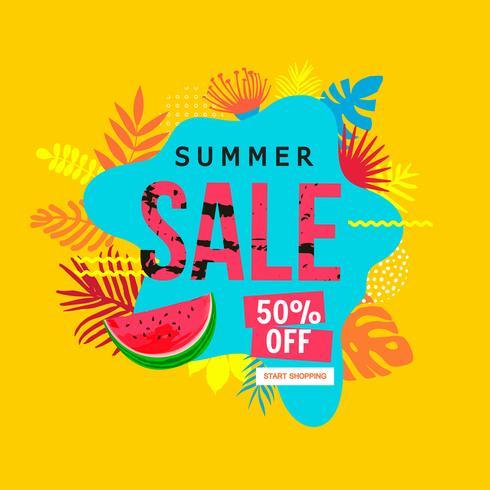 Banner de sitio web de venta de verano vector