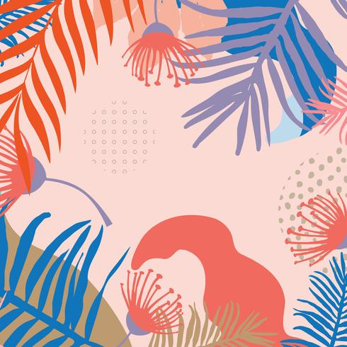 Folhas da selva tropical vetor