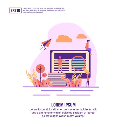 E-learning Landing Page  vector