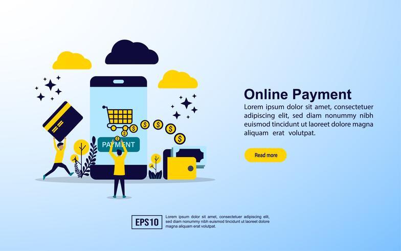 Pagamento online vetor