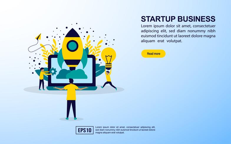 Startup business web page