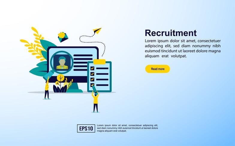 Promotion de la page Web de recrutement vecteur
