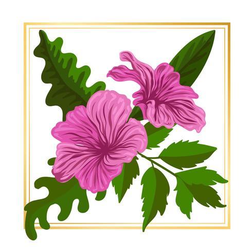 Illustration för element för illustration för rosa blommor för vektor för blommablommavektor