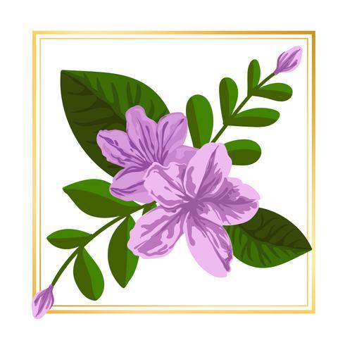Flor enmarcada de luz clara vector
