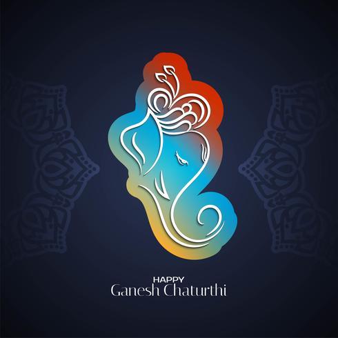 Ganesh Chaturthi colorful design