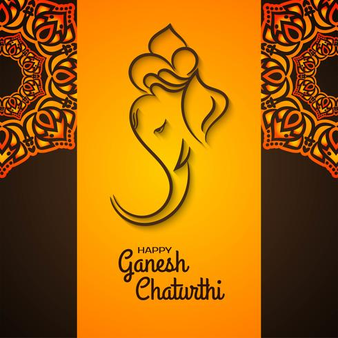 Mandala decorativo design Ganesh Chaturthi