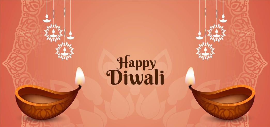 Festival indiano Happy Diwali greeting card