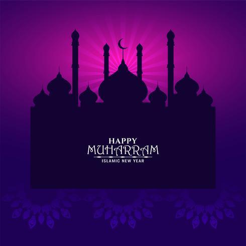 colore viola scuro Design Happy Muharran
