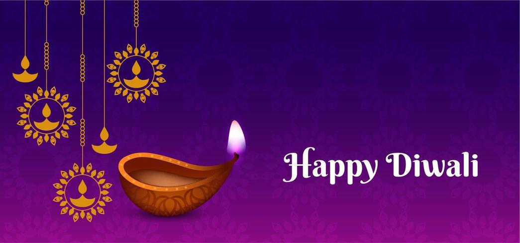 Gelukkig Diwali-ontwerp met hangende lampen