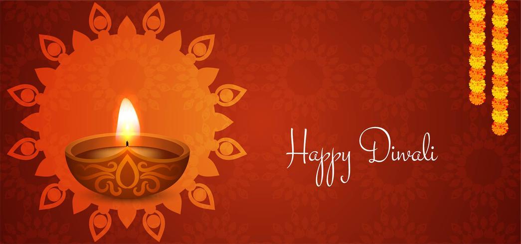 diseño rojo Happy Diwali