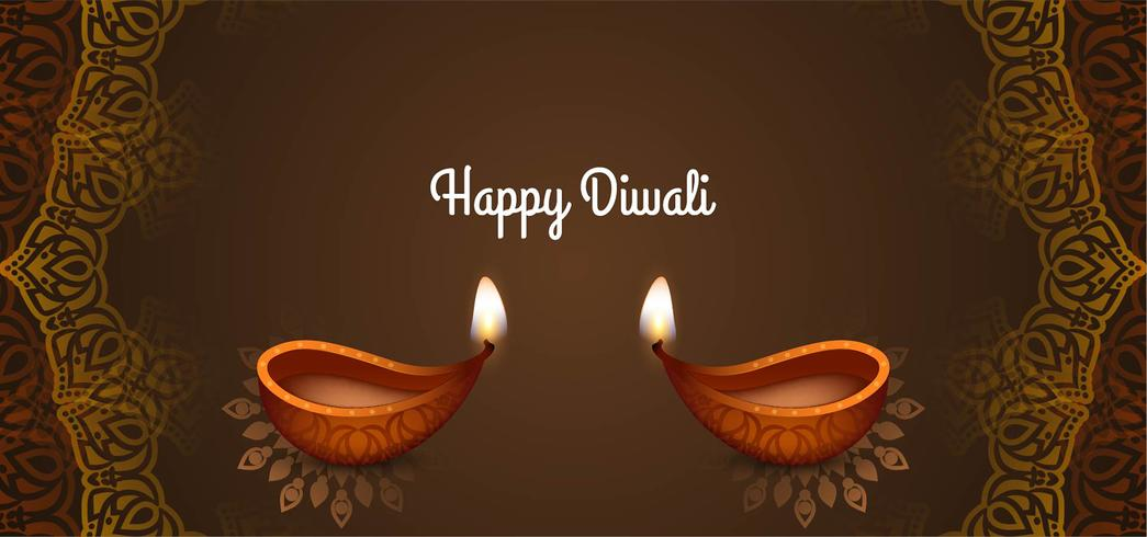 stilvoller dekorativer glücklicher Diwali Entwurf