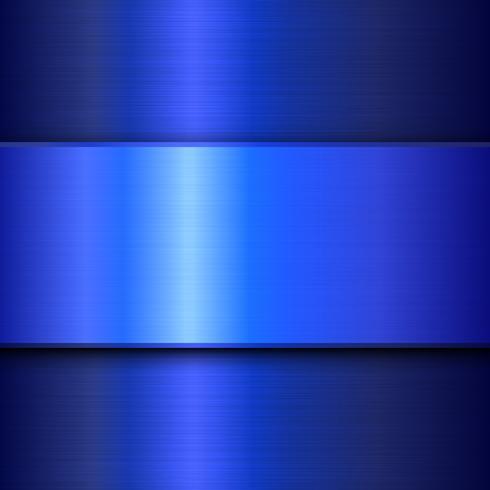 Abstrait bleu brillant métal