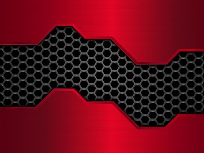 Modello astratto nero e rosso a nido d'ape
