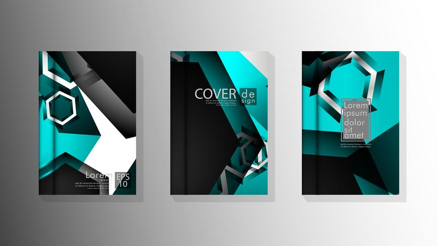 Collection of book cover backgrounds vector