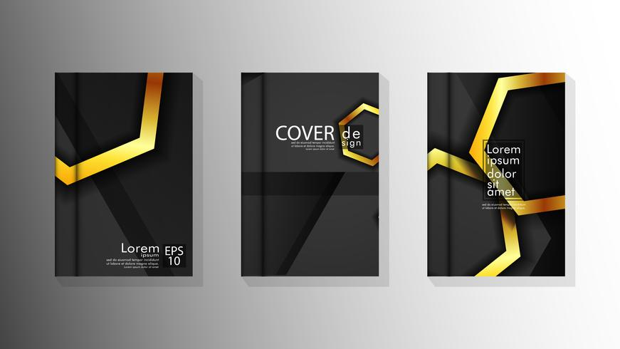 Colección de fondos de portadas de libros vector