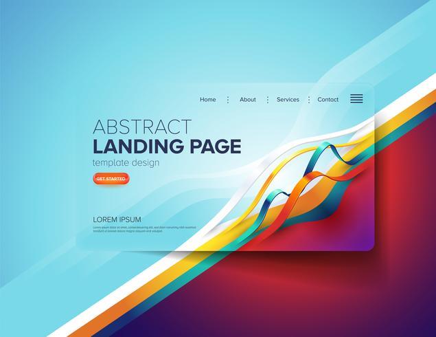 Diseño abstracto de la página de aterrizaje de la cinta vector