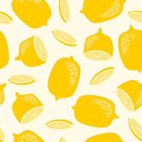Patrón de limón amarillo vector
