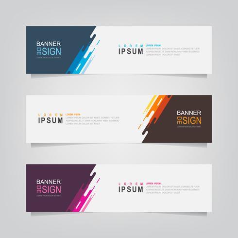 Set van abstracte geometrische vorm moderne Banners