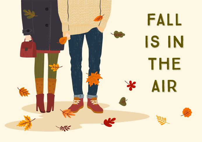 Fall Is In The Air  with romantic couple