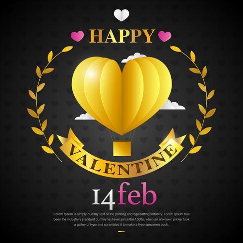 Love Baloon pour la Saint-Valentin vecteur
