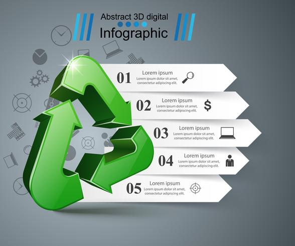 Recycle business infographic vector