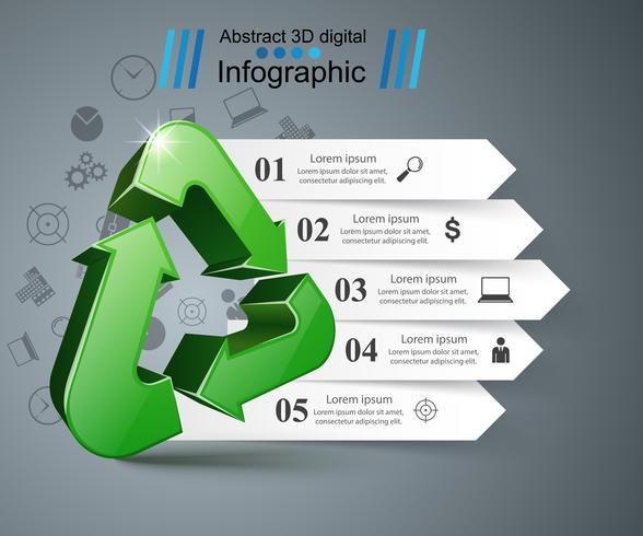 Reciclar infografía empresarial