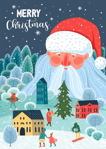 Christmas and Happy New Year Card vector