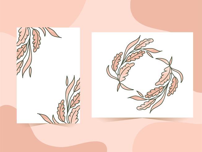 Nature leaves frame background set