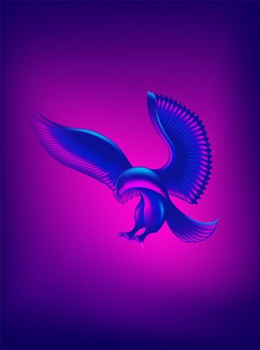 forma de águila abstracta vector