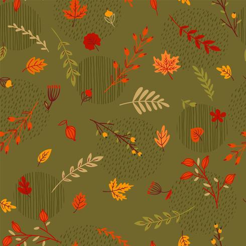 Resumen de patrones sin fisuras de otoño vector