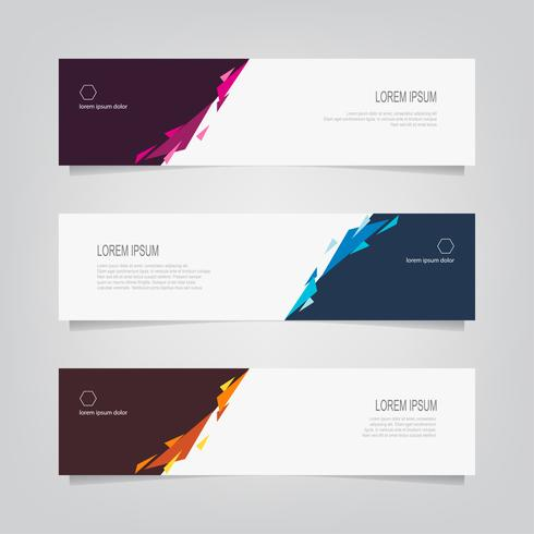 Set of Abstract Geometric Angles Banners  vector