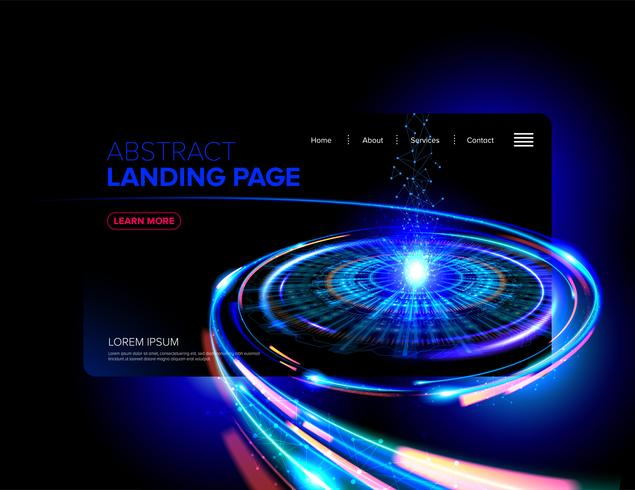 Abstract Futuristic Landing Page Design