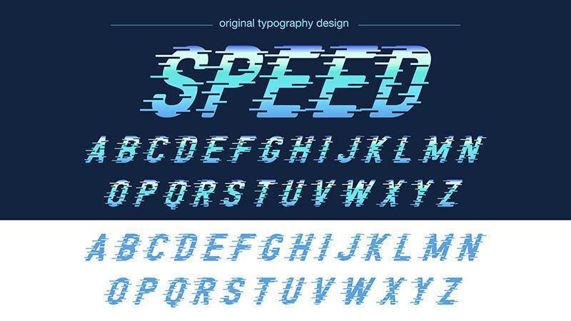 Azul Speed Motion Sports Tipografía vector