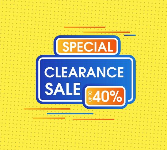 Abstract clearance sale with yellow minimal background