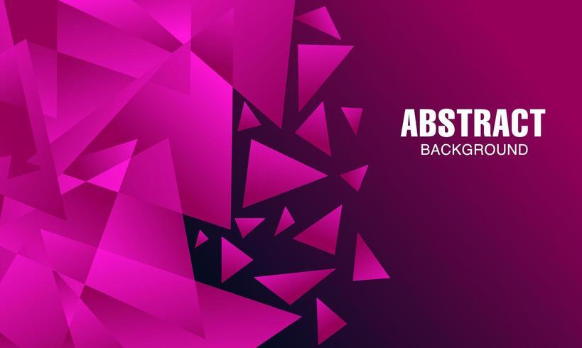 Diseño de fondo poligonal rosa moderno abstracto