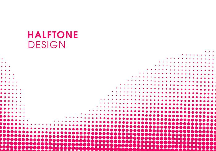 Abstract Pink modern halftone background design vector