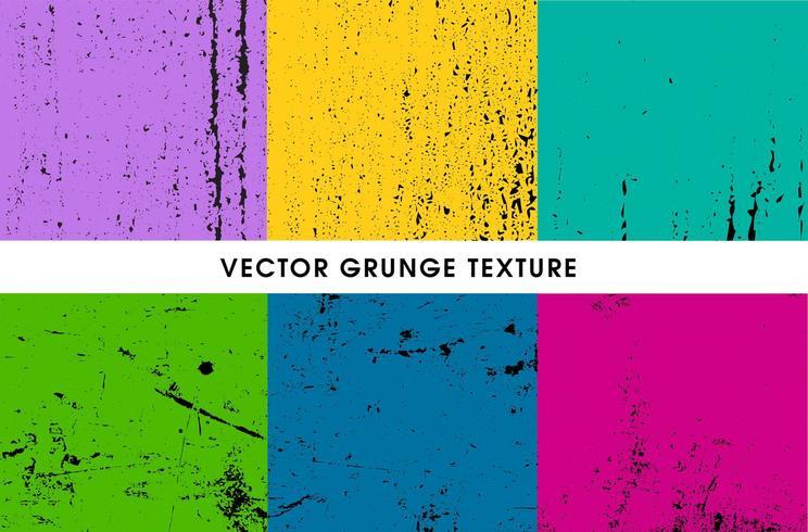 conjunto de texturas grunge vector