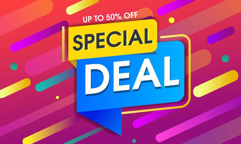 Special deal design with Abstract colorful geometric background