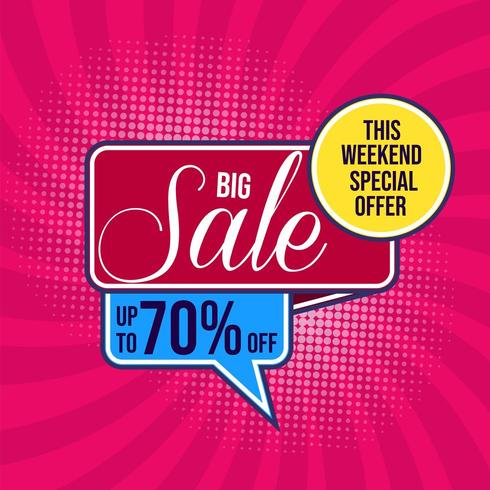 Big sale modern with halftone background