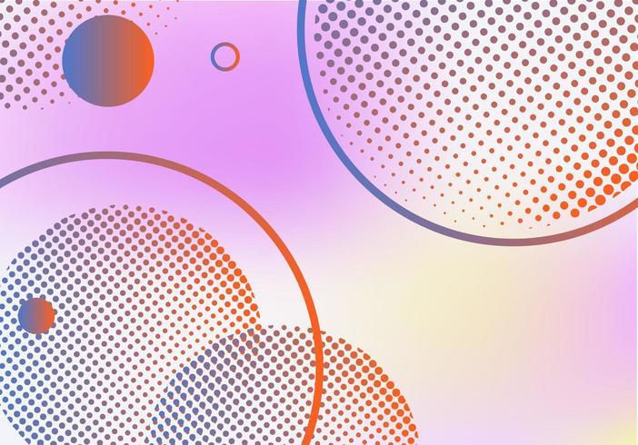 Fondo degradado abstracto con círculo de semitono vector