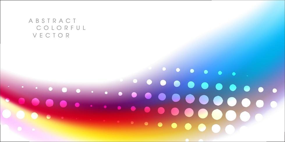 Color arcoíris con elemento de semitono vector