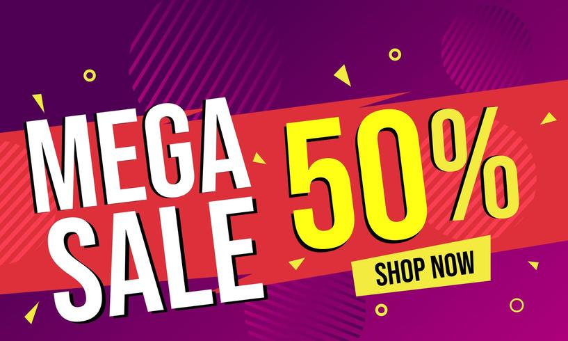 Mega sale abstract banner background  vector