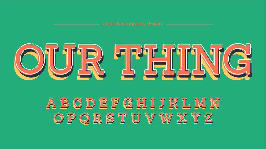 Colorful Fun Slab Serif Typography vector