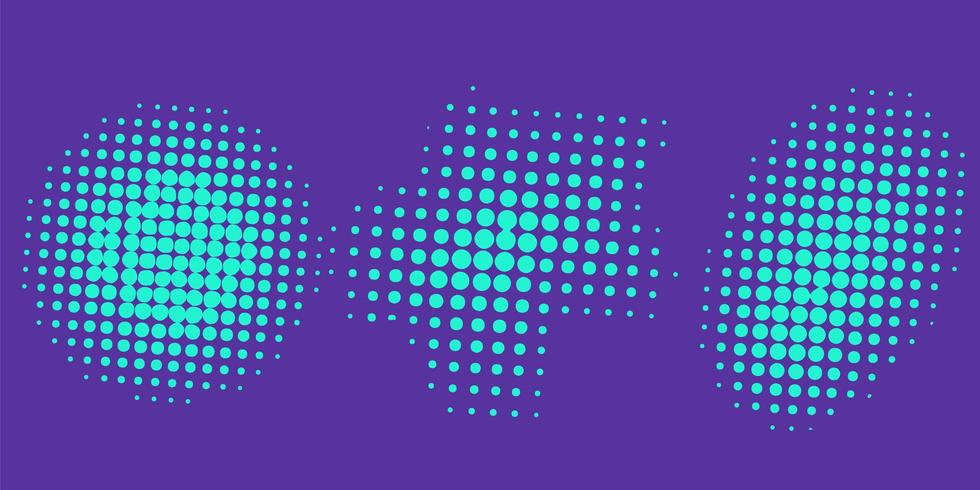 Abstract halftone collections vector