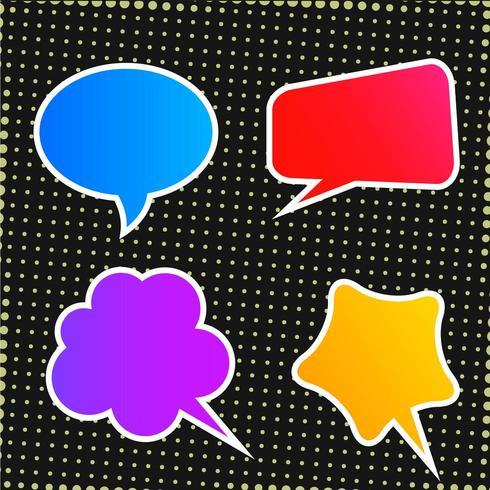 Colección de burbujas de discurso colorido abstracto vector