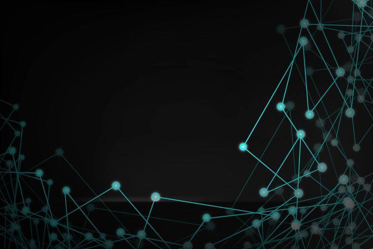 Resumen futurista conectado puntos y líneas