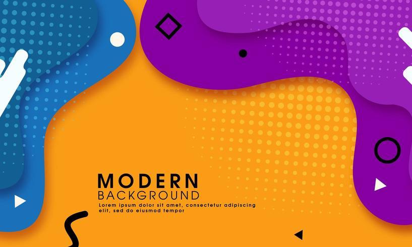 Fondo amarillo abstracto moderno con formas fluidas vector
