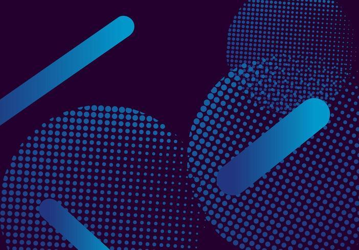 Blauer moderner Hintergrund mit Halbtonkreis vektor