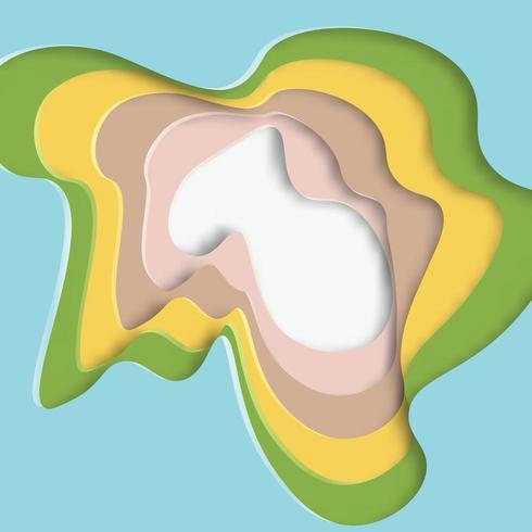 Patrón de formas de papel de corte colorido abstracto vector