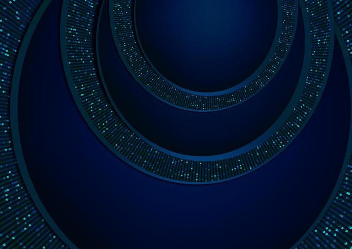 fondo de corte de papel resplandor azul vector